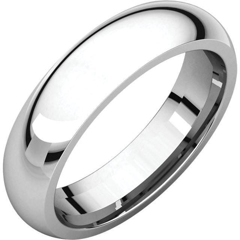5mm Dome 18K White Gold Wedding Band