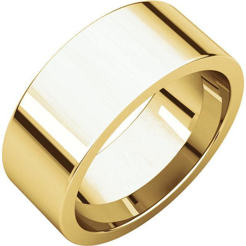 8mm Flat 14K Yellow Gold Wedding Band