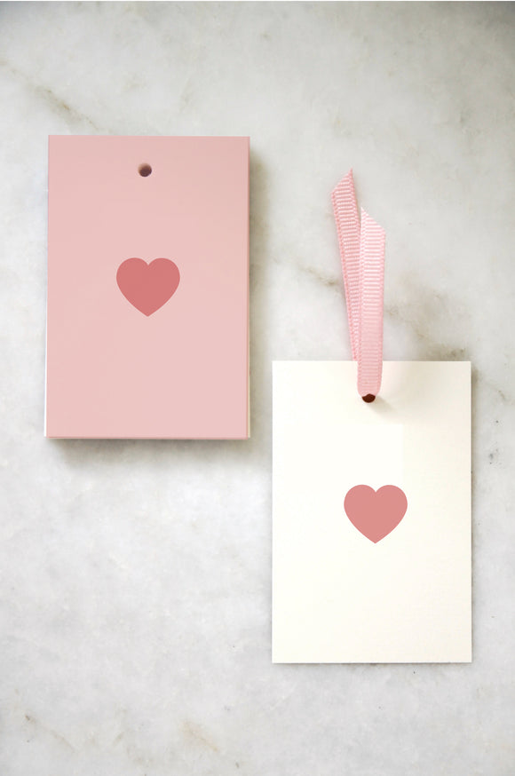 Pink Heart Tags