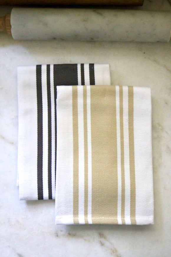 Classic Center Stripe Cotton Towels | 2 Colors