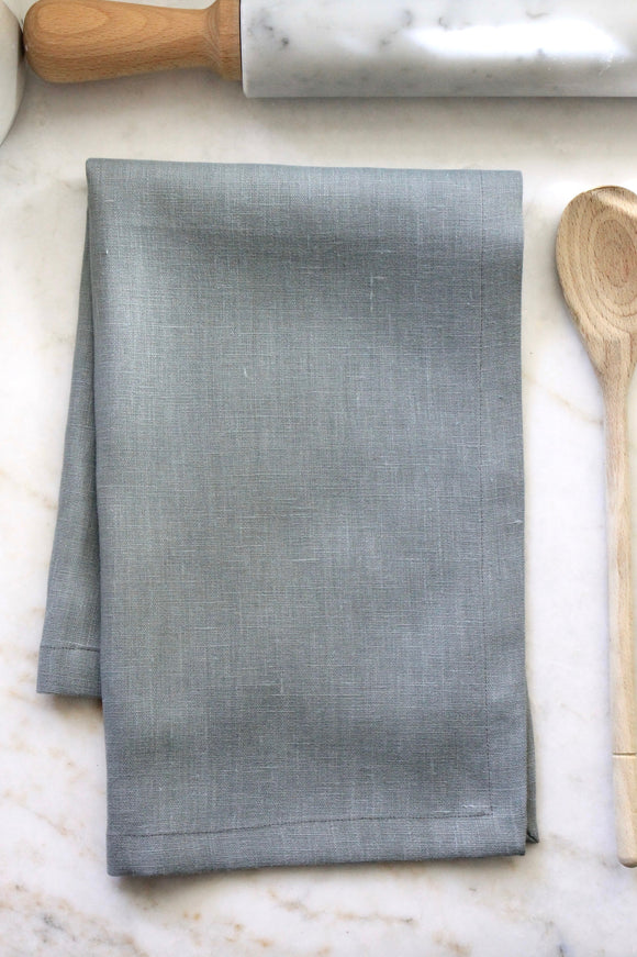 Solid Blue Linen - Tea Towel