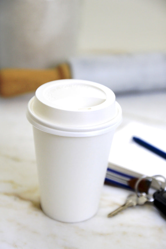 Paper Coffee Cups & Lids - 2 sizes available