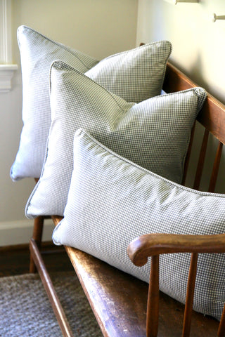 Grey Check Pillows - 3 sizes