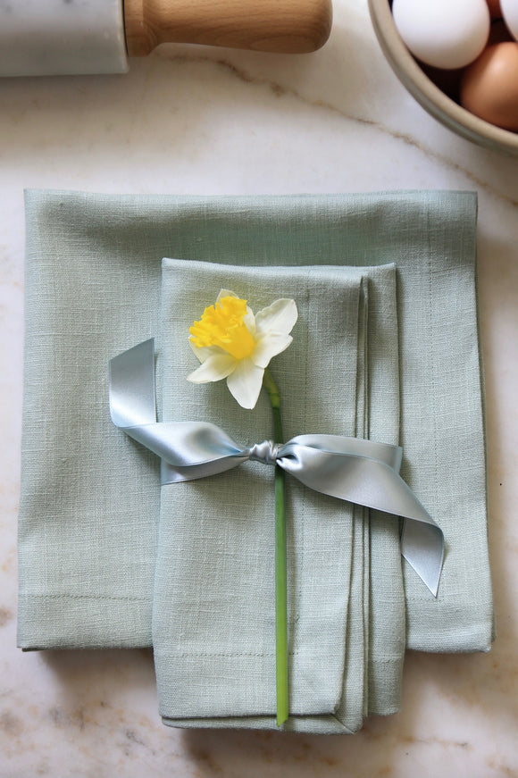 Solid Light Seafoam Linens
