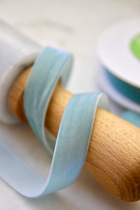Robin's Egg Blue Velvet Ribbon | 2 Sizes