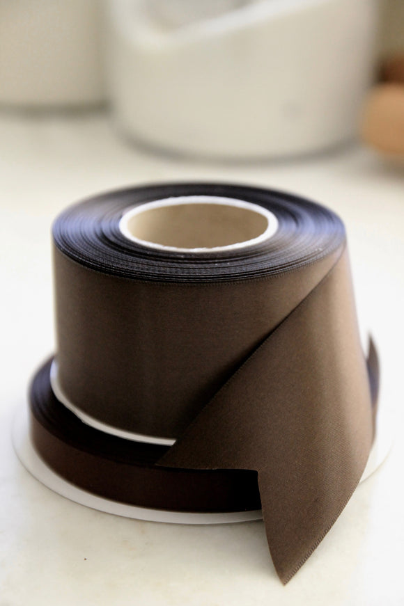 Seal Brown Satin Ribbon