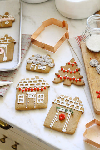Copper Cookie Cutters - Gingerbread Houses - Set of 2