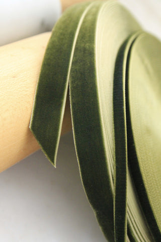 Velvet Ribbon | Deep Olive Green