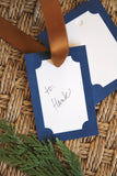 Navy Border Tags