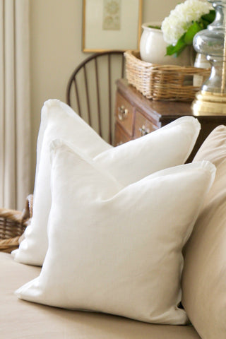 Soft White Linen Pillow | 2 sizes