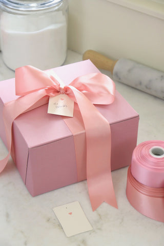Large Bakery Boxes, Pink - Set of 5