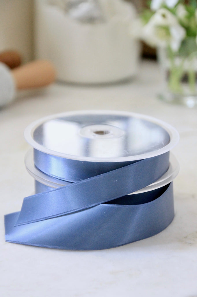 Steel Blue Satin Ribbon - 2 Sizes