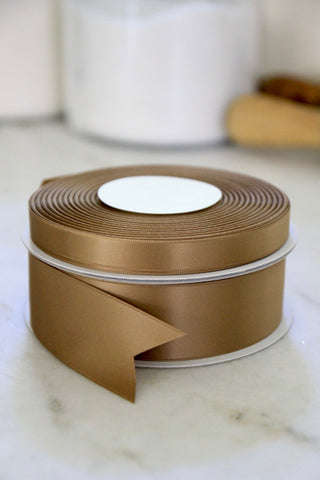 Cafe Au Lait Satin Ribbon