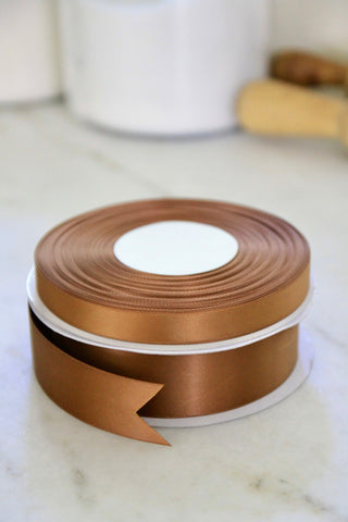 Coffee Satin Ribbon
