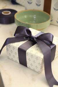 Charcoal Satin Ribbon