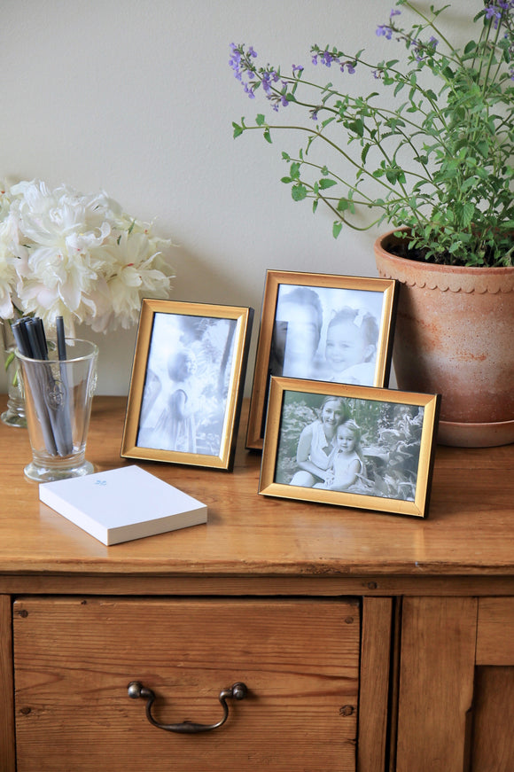 Tabletop Gold Leaf Frames | 2 Sizes