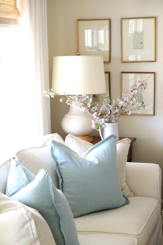 Robin's Egg Linen Pillows | 3 Sizes