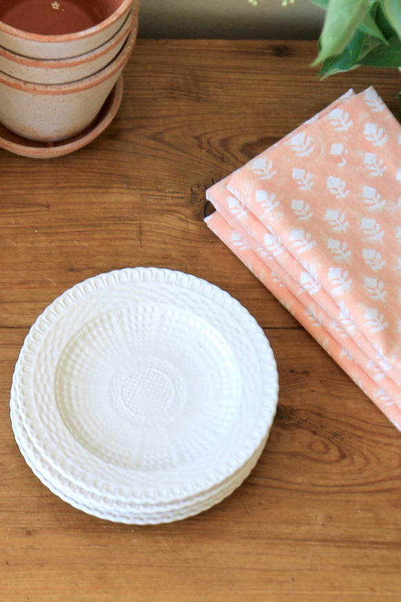 Basketweave Dessert Plates | Set of 4