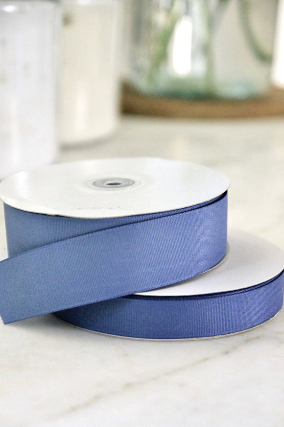 Smoke Blue Grosgrain Ribbon | 2 sizes