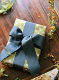Metallic Gold Dahlia Wrapping Paper