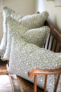 Vine Pillows with Same Fabric Flange