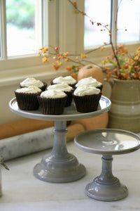 Grey Marbled Cake Stands