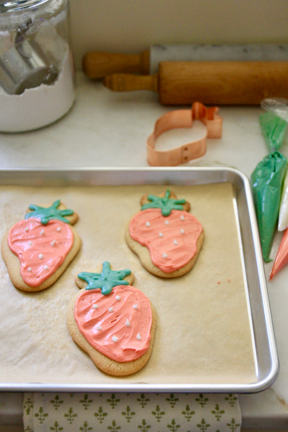 Copper Cookie Cutter - Strawberry