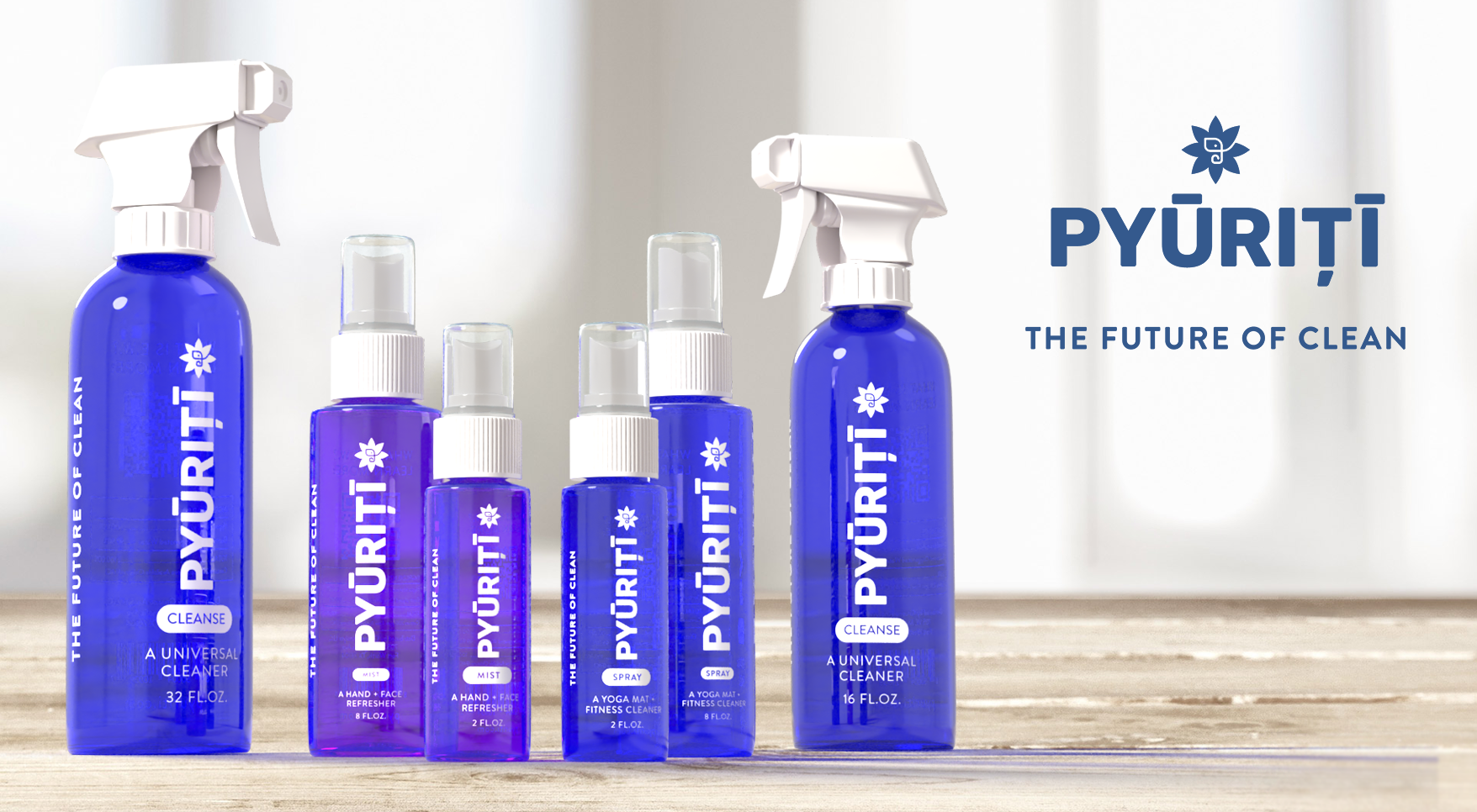 Pyuriti line of products (bottles)
