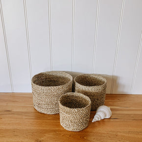 Natural Seagrass Basket Set