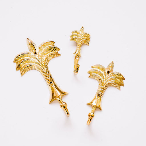 Gold Palm Tree Hooks