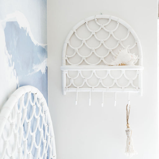 Sirena Mermaid Shelf in White