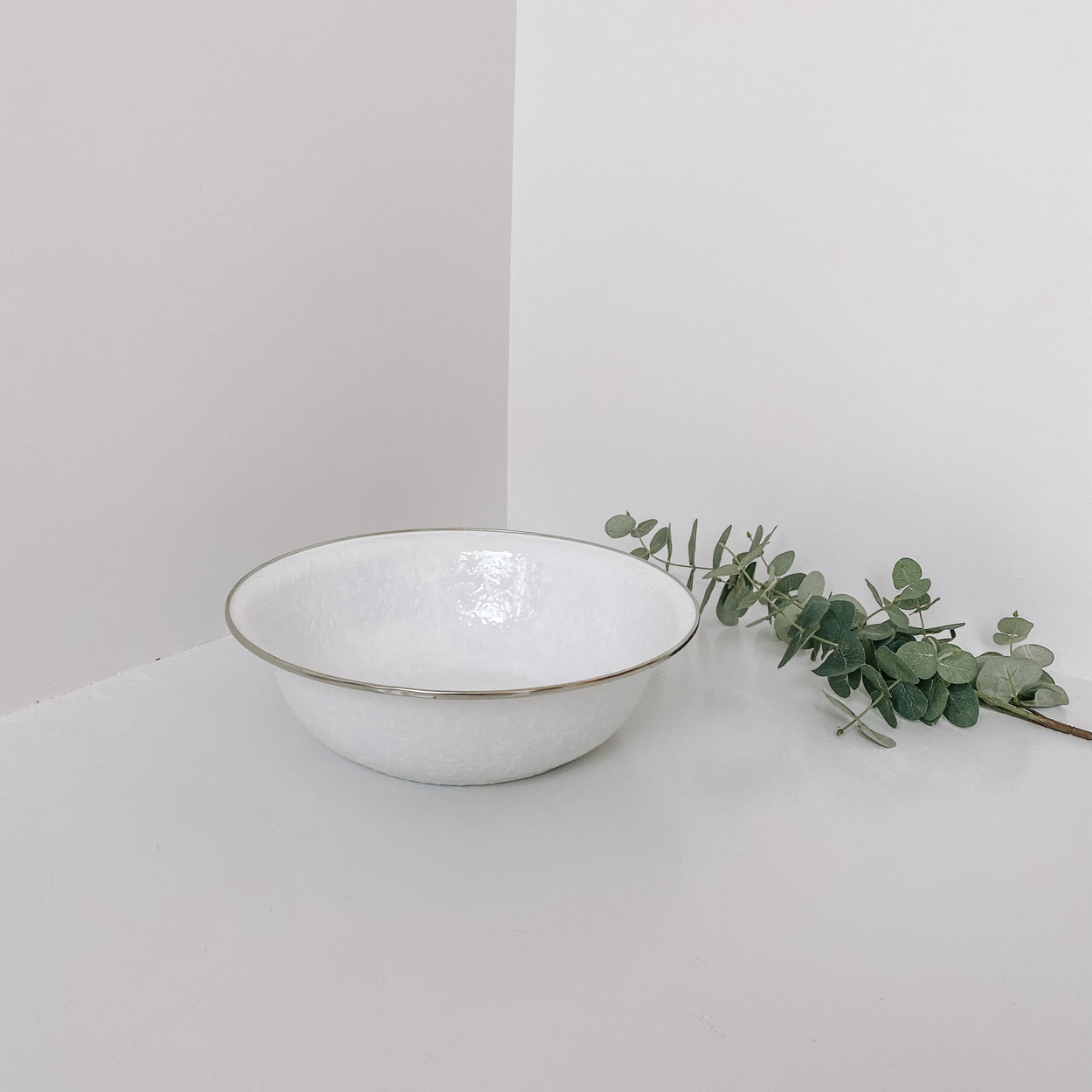 White Enamel Bowl