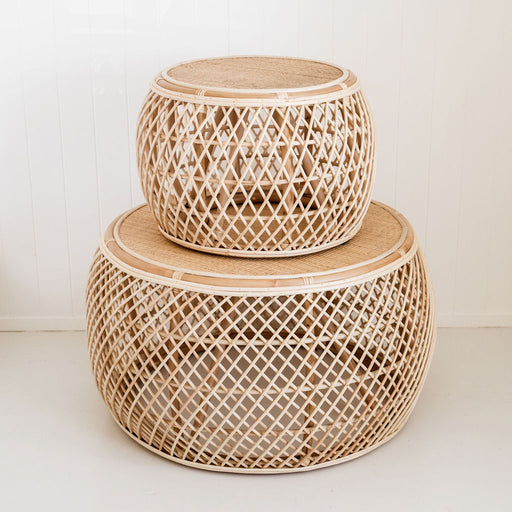 Miller Rattan Coffee Table