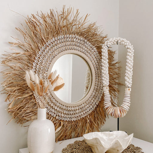 Willow Raffia Mirror
