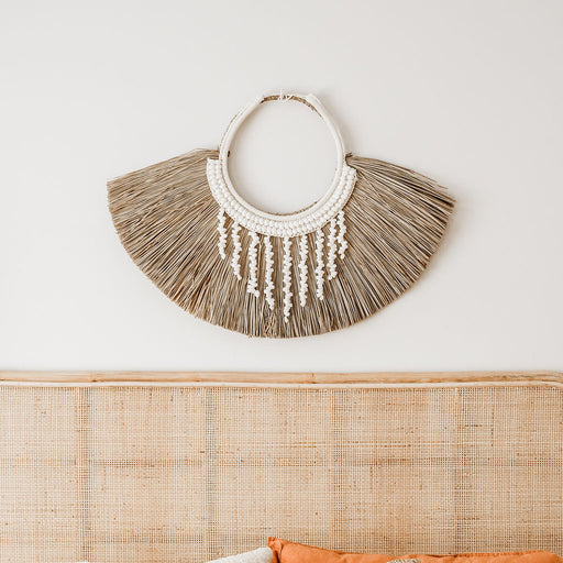 Nalu Raffia Shell Wall Decor