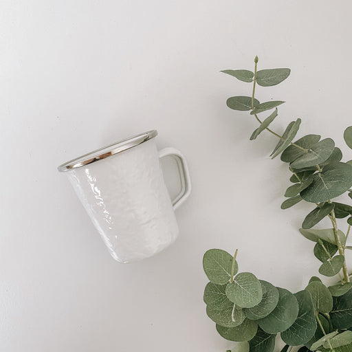 Enamel Latte Mugs