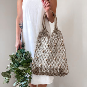 Mykonos Beaded Lined Tote