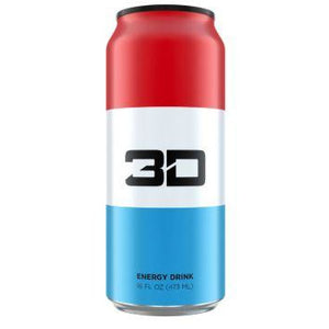 3D Energy Red White Blue