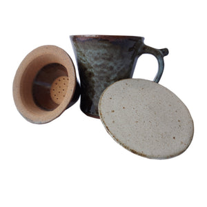 Small Green Tea Mug With Strainer