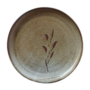 10 Inch Brown Leaf Plate