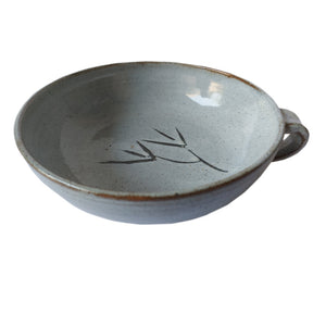 8 Inch Kooda Soup Bowl Green Leaf
