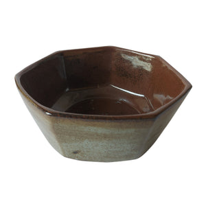 ASP Faceted Bowl Inner Brown