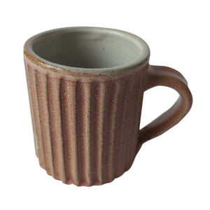 AN Flutted Tea / Coffee Brown Mug