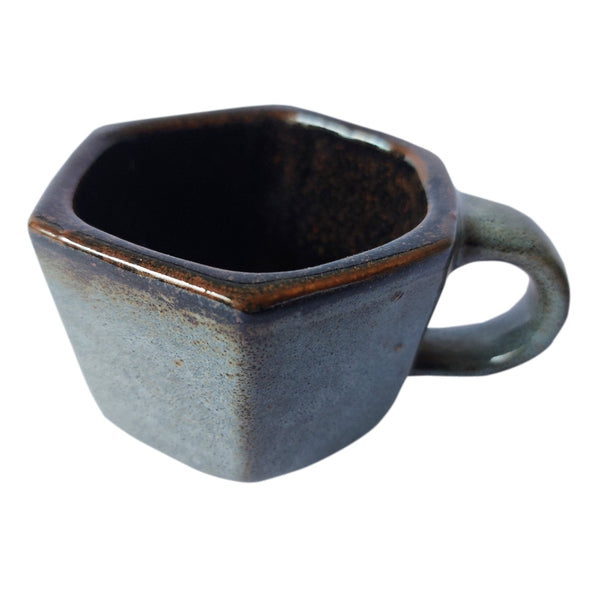 ASP Small Faceted Tea / Coffee Mug Blue