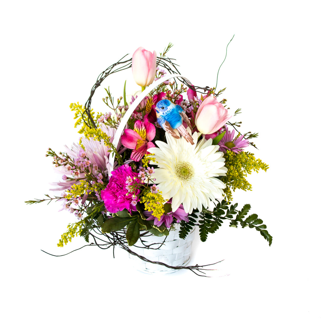 Jp Parker Flowers Happy Easter Flower Basket Spring Garden