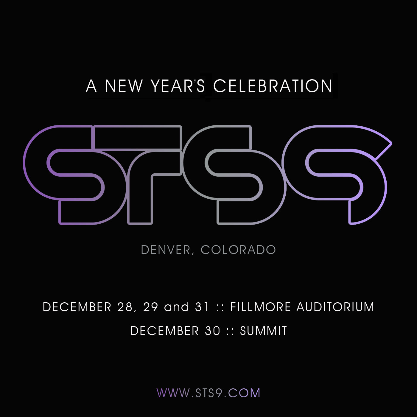 STS9: DENVER NEW YEAR'S RUN