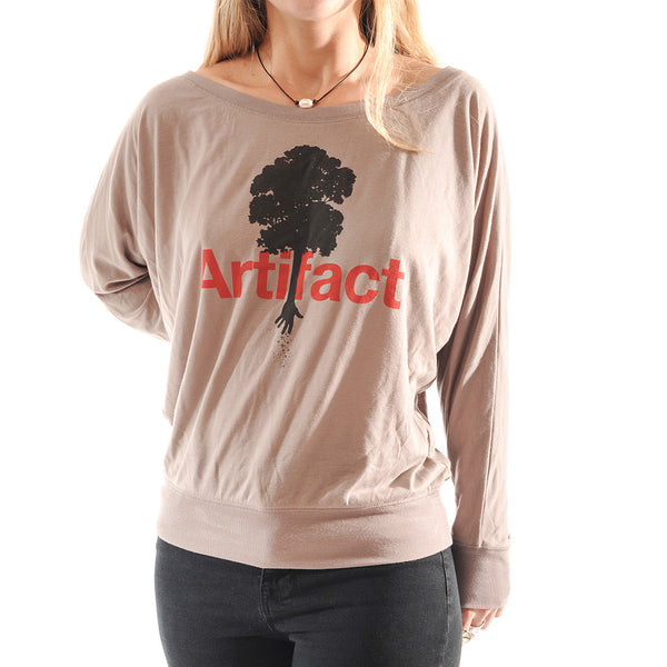 Artifact Off-Shoulder Women's Long Sleeve Shirt