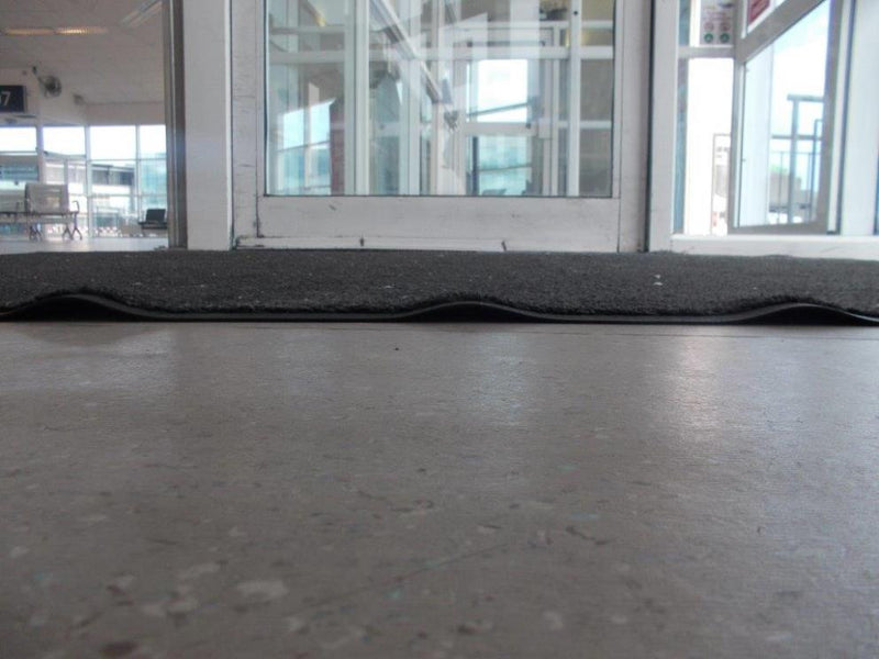 Corrugation of loose laid mats.