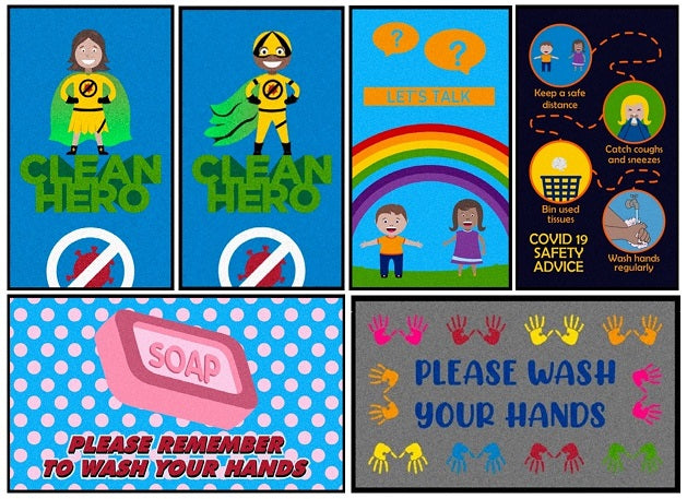 Footfall's Back to School Message Mats