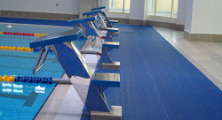 Self-draining barefoot matting designed for wet areas with high traffic